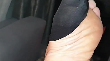 pantyhose foot fetish tease