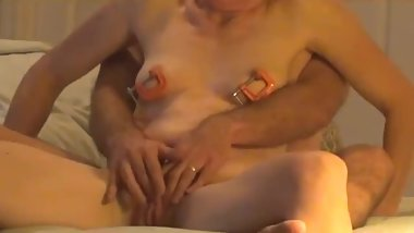 Strong Orgasm for Sexy Fit Shy Wife, Fucked Hard on Hidden Camera